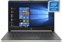 "Ноутбук HP 14-cf0000ur (4JS01EA) (Intel Pentium Silver N5000 1100Mhz/14""/1920х1080/4GB/128GB SSD/DVD нет/Intel UHD Graphics 605/Wi-Fi/Bluetooth/Win 10 Home)"