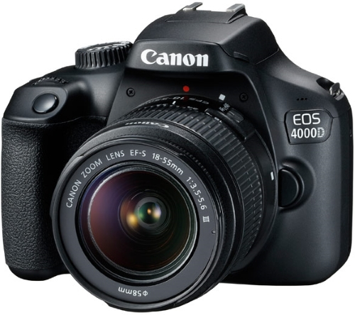 Купить Зеркальный фотоаппарат Canon, EOS 4000D Travel Kit 18-55 III + сумка + карта...
