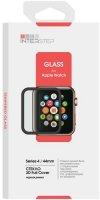 Защитное стекло с рамкой 3D InterStep для Apple Watch Series 4 44mm (IS-TG-APWA4443B-000B202)