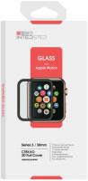 Защитное стекло с рамкой 3D InterStep для Apple Watch Series 3 38mm (IS-TG-APWA3383B-000B202) аксессуары для переговорных устройств rh771 uv tg uv2