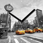 """Настенные часы INNOVA W09659 """"Такси"""""""