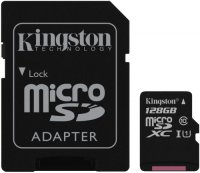 Карта памяти Kingston Canvas Select microSDXC 128GB Class 10 UHS-I U1 + SD адаптер (SDCS/128GB)