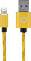 Купить Кабель для iPod, iPhone, iPad Qumo, Lightning для Apple MFI metal+metal, 1 м, Yellow (24276)