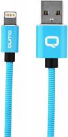 Купить Кабель для iPod, iPhone, iPad Qumo, Lightning для Apple MFI metal+metal, 1 м, Blue (24275)