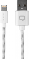 Купить Кабель для iPod, iPhone, iPad Qumo, Lightning для Apple MFI metal+metal, 1 м, White (24272)