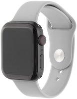 Ремешок InterStep Sport для Apple Watch 38mm/40mm, силикон, светло-серый (HWE-AWB40SPT-NP0012S-K100)