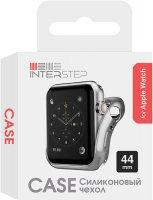 Чехол InterStep для Apple Watch, 44mm, спортивный Silver (HWE-AWC44MSL-NP0017O-K100)