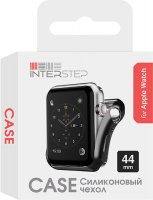 Чехол InterStep для Apple Watch, 44mm, спортивный Black (HWE-AWC44MSL-NP0001O-K100)