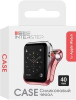 Чехол InterStep для Apple Watch, 40mm, спортивный Pink (HWE-AWC40MSL-NP0005O-K100)