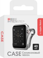 Чехол InterStep для Apple Watch, 40mm, спортивный Silver (HWE-AWC40MSL-NP0017O-K100)