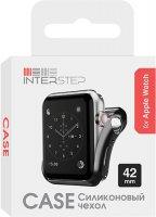 Чехол InterStep для Apple Watch, 42mm, спортивный Black (HWE-AWC42MSL-NP0001O-K100)