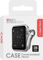 Чехол InterStep для Apple Watch, 38mm, спортивный Silver (HWE-AWC38MSL-NP0017O-K100)