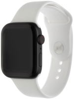 Ремешок InterStep Sport для Apple Watch 42mm/44mm, силикон, белый (HWE-AWB44SPT-NP0003O-K100)