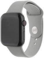 Ремешок InterStep Sport для Apple Watch 42mm/44mm, силикон, светло-серый (HWE-AWB44SPT-NP0012S-K100)