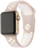 Ремешок InterStep Action для Apple Watch 38mm/40mm, силикон, розовый/белый (HWE-AWB40ACT-NP0503O-K100)
