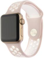 Купить Ремешок InterStep, Action для Apple Watch 38mm/40mm, силикон, розовый/белый (HWE-AWB40ACT-NP0503O-K100)