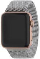 Ремешок InterStep Mesh для Apple Watch 38mm/40mm, сталь, серебро (HWE-AWB40MES-NP0017O-K100)