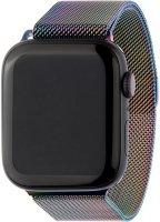 Ремешок InterStep Mesh для Apple Watch 38mm/40mm, сталь, неон (HWE-AWB40MES-NP0023O-K100)