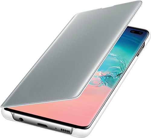 Купить Чехол Samsung, Clear View Cover для Galaxy S10+ White...