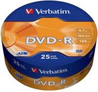 DVD-R диск Verbatim 16x 25шт (43730)
