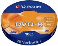 DVD-R диск Verbatim 16x 10 шт (43729)