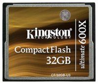 Карта памяти Kingston CompactFlash Ultimate 600x 32GB (CF/32GB-U3)