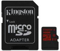 Карта памяти Kingston microSDHC 16GB Class 10 + SD адаптер SDCA3/16GB