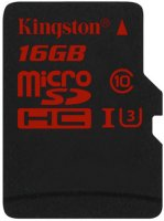 Карта памяти Kingston microSDHC UHS-I U3 16GB (SDCA3/16GBSP)