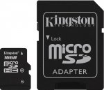 Карта памяти Kingston microSDHC Class 10 UHS-I 16GB +SD адаптер (SDCA10/16GB)