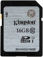 Карта памяти Kingston SDHC Class 10 UHS-I 16GB (SD10VG2/16GB)