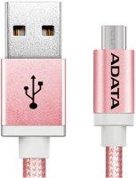 Кабель ADATA microUSB - USB, 1 м, Rose Gold (AMUCAL-100CMK-CRG)
