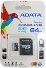 Карта памяти ADATA microSDXC 64GB Premier Class 10 UHS-I U1 + адаптер (AUSDX64GUICL10-RA1)