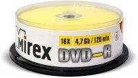 DVD-R диск Mirex 4.7Gb 16x 25 шт (202417)