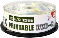 DVD-R диск Mirex Printable 4.7Gb 16x 25 шт (203285)