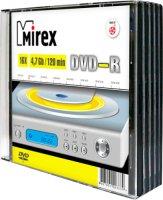 DVD-R диск Mirex 4.7Gb 16x 5 шт (202387)