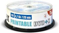 DVD+R диск Mirex Printable 4.7Gb 16x 25 шт (203421)