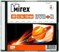 DVD+R диск Mirex 4.7Gb 16x (202455)