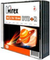 DVD+R диск Mirex 4.7Gb 16x 5 шт (202479)