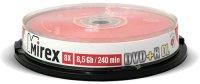 DVD+R диск Mirex Dual Layer 8.5Gb 8x10 шт (204213)