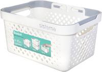 Корзина для белья Sistema Home Basket, 5,25 л White (51210) фото