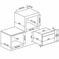 Встраиваемая микроволновая печь Smeg SF4750MAO