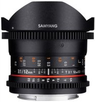 Объектив Samyang 12mm T3.1 VDSLR ED AS NCS Fish-eye Canon