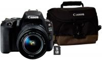 Купить Зеркальный фотоаппарат Canon, EOS 200D EF-S 18-55mm f/3.5-5.6 III + сумка + SD 16GB