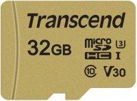 Карта памяти Transcend microSDHC 32GB Class 10 + адаптер (TS32GUSD500S)