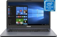 "Ноутбук ASUS VivoBook 17 X705MA-BX096T (Intel Celeron N4100 1.1Ghz/17.3""/1600х900/4GB/256GB SSD/Intel HD Graphics 600/DVD нет/Wi-Fi/Bluetooth/Win 10)"