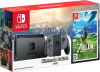 Купить Игровая приставка Nintendo, Switch серый + The Legend of Zelda: Breath of the Wild