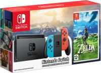 Купить Игровая приставка Nintendo, Switch красный/синий + The Legend of Zelda: Breath of the Wild