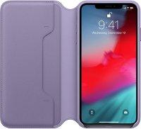 Чехол Apple Leather Folio для iPhone Xs Max Lilac (MVFV2ZM/A)