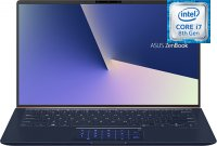 "Ноутбук ASUS ZenBook UX433FN-A5072T (Intel Core i7-8565U 1.8GHz/14""/1920х1080/8GB/512GB SSD/nVidia GeForce MX150/DVD нет/Wi-Fi/Bluetooth/Win 10)"