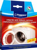 Средство для первого запуска стиральных машин Topperr T-3217 средство обезжиривающее д стиральных и пмм topperr 50 г